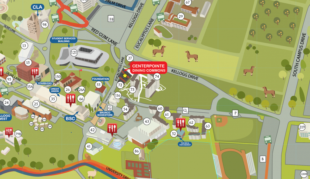Centerpointe Dining Map From Campus