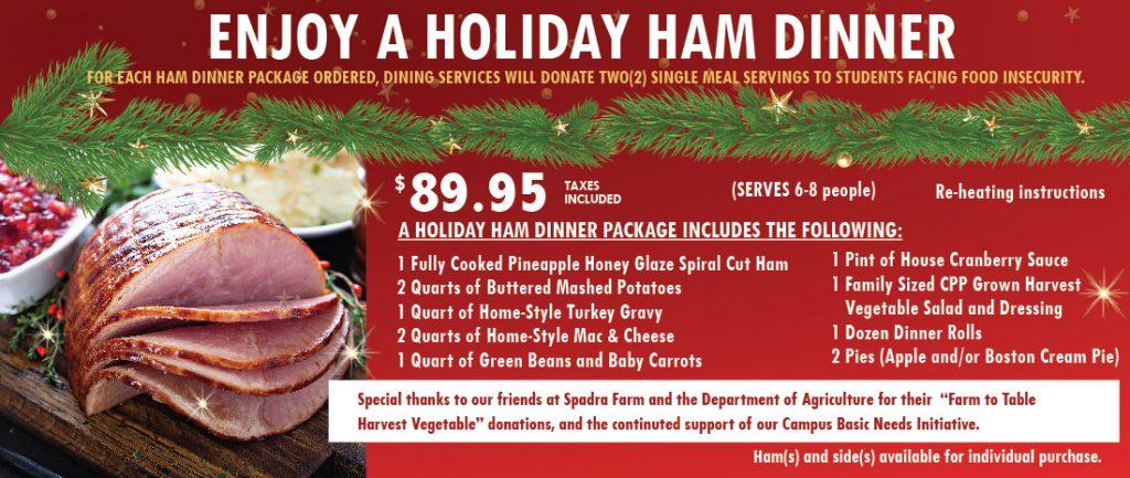 Holiday Ham Dinner Flyer